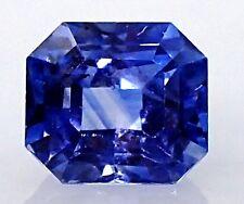 GIA Certified 1.21 ct Blue Emerald Cut Ceylon Natural Sapphire.