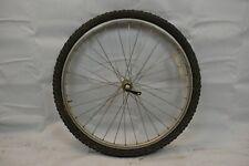 "Matrix 26"" Front MTB Bike Wheel Exage Hub Silver OLW100 16mm 32S PV USA Charity!"