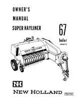 New Holland 67 Baler Operators Manual