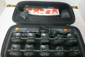 TopStyler By InStyler Heated Ceramic Styling Shells Hair Curlers W/ Case Clips