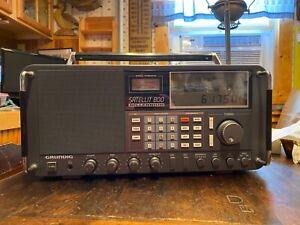 Vintage Estate Grundig Satellit 800 Millennium AM FM SW Radio Receiver Works