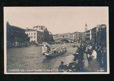 Italy Venice VENEZIA Canal Grande in festa Le Bissone c1920/30s? RP PPC