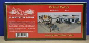 JL Innovative Designs 171 HO Pickard Motors Vintage Era Craftsman kit NIB