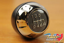 2011-2017 Jeep Wrangler 6 Speed Manual Chrome/ Leather Wrapped Shift Knob Mopar