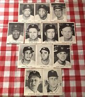 Set of 12 1954 New York Giants, B&W Photos Willie Mays & Entire Starting Lineup