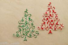 8PC - Christmas Tree Paper  DIE Cuts Scrapbooking - NOT a DIE
