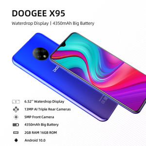 DOOGEE Smartphone 6.52''MTK6737 16GB ROM Dual SIM 13MP Triple Camera 4350mAh