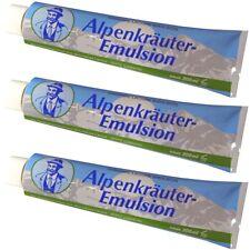 (24,95€/l) 3x Alpenkräuter-Emulsion Creme 200 ml nach dem Bad zur Pflege Massage