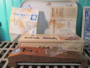 Vintage Graves Cutlery World Crock Stick Knife & Scissor Sharpener 2 Stage stone