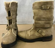 ROCKET DOG Women's  Light Brown Zip Leather Boots Size 8 Mid calf A14