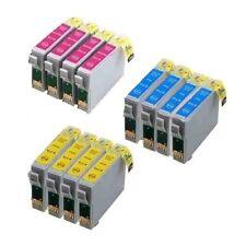 12x Tinte für Epson Stylus D68 D88 DX4850 DX3850 DX4200 DX3800 DX4800 farbig