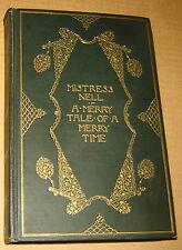 1901 GEORGE HAZELTON SIGNED MISTRESS NELL GWYN ENGRAVING RARE BOOK