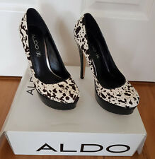 58d6e0d023e2 Aldo platform stiletto   pumps   heels – Patent black and animal print