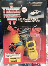 Transformers G1 Antex Robocar Camaro Yellow Windcharger Argentina Variant MISBP