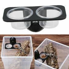 1pc Reptile Feeder Water Container Bowl Basin Feeding Supplies for Gecko Turtle