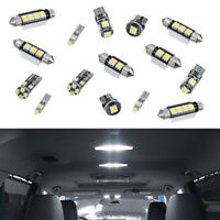 17pcs Hot Universal Error Free Premium White Bulb Interior Car LED Light Durable
