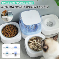 Automatic Pet Cat Single Double Bowl Dog Feeder Drinking with Water