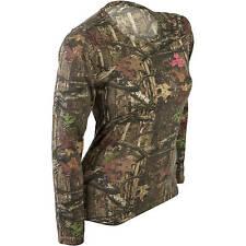 Mossy Oak Break-up Infinty Women's/Ladies Camo Long Sleeve Crew T-Shirts: S-2XL