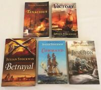 Lot 5 Julian Stockwin Kydd Sea Adventure Books Victory Invasion Command Betrayal