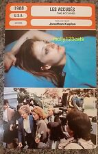 US Drama The Accused Jodie Foster Kelly McGillis French Film Trade Card