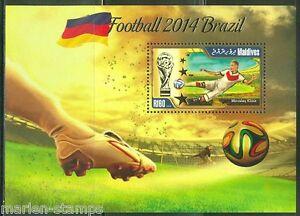 MALDIVES 2014 SPORTS BRAZIL WORLD CUP SOCCER SOUVENIR SHEET