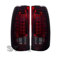 03-06 Silverado Sierra 1500 2500 Led Pair New Generation Tail Light Smoke Red