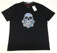 Robert Graham Mens Skull Spirit Graphic Black T-Shirt Size XL $78.00