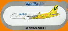 Airbus A320 Vanilla Air Inc Sticker With Sharklets (VERY RARE)