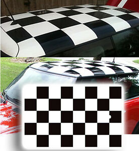 mini roof checkers vinyl decal/graphic available in any colour, cut ready to fit