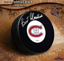 BERT OLMSTEAD Signed Montreal Canadiens Puck