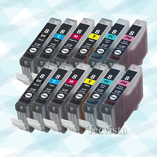 12 Ink for Canon CLI8 BK C M Y PC PM iP6700D Pro9000