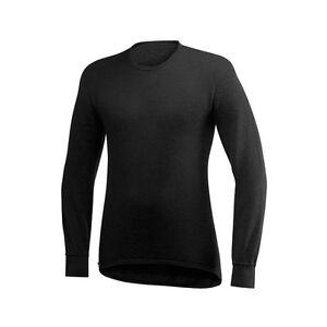 Woolpower Crewneck 200 round Neck Shirt Black Long Sleeve Shirt
