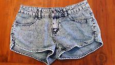 Girl Express denim blue stretch shorts sz8 preowned post D98