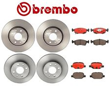For Fiat 500 2012-2016 Front and Rear Disc Brake Rotors Ceramic Pads Kit Brembo