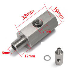 Stainless Steel M12X1.5 1/8'' NPT Oil Pressure Sensor Tee to NPT Adapter Car SUV