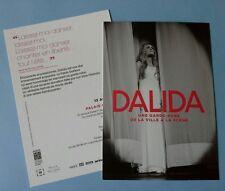 DALIDA lot de 2 flyers identiques cartonné publicitaire Format carte postale