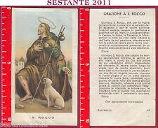 1210 SANTINO HOLY CARD S. SAN ROCCO ED G MI ED. G MI. 43 LOGO C CARTA OPACA