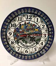 """Jerusalem Clock Armenian Ceramic 8.7"""" / 22 cm beautiful ceramic wall clock gift"""