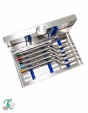Sinus levage osteotome KIT DE 5 coudés osteotomes-convex pointes dentaire