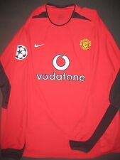 2002-2004 Nike Manchester United Shirt Jersey Kit Long Sleeve XXL LS Beckham