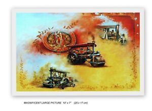 MARSHALL STEAM ROLLERS GAINSBOROUGH SPLENDID COLLAGE TYPE PICTURE MOUNTED