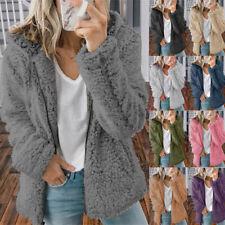 Womens Plus Size Teddy Bear Fluffy Coat Ladies Winter Warm Fleece Jacket Outwear
