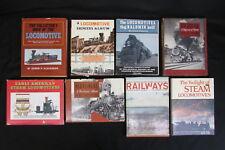 8 Vintage Trains Locomotives and Railways Coffee Table Books 1940's-60's