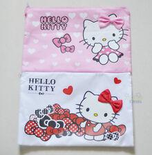 2pcs Hello Kitty A4 Office School Notes Check Files Bag Case Organizer Folder