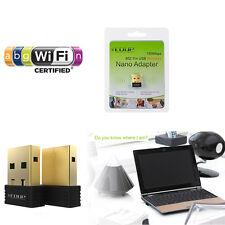 2.4G 802.11n a/b/g 150Mbps Wireless N WiFi USB Nano Adapter WIN 7 8 MAC Linux