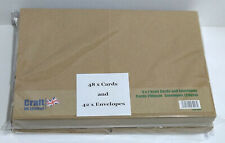 Craft UK Ltd 5 x 7 - Kraft Cards & Envelopes - Repackaged / Part Pack - Plse Rd