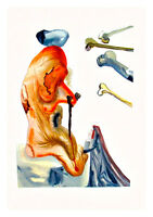 Divine Comedy Inferno 18 by Salvador Dali A4 Art Print