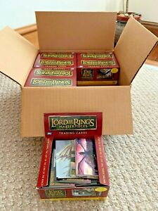 Lord of the Rings Masterpieces 8 Box Case Trading cards open boxes no chase