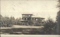 Pretty Home - Dedham MA Cancel c1910 Real Photo Postcard