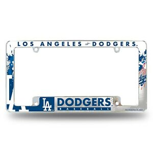 Los Angeles Dodgers Chrome ALL OVER Premium License Plate Frame Cover Truck Car
